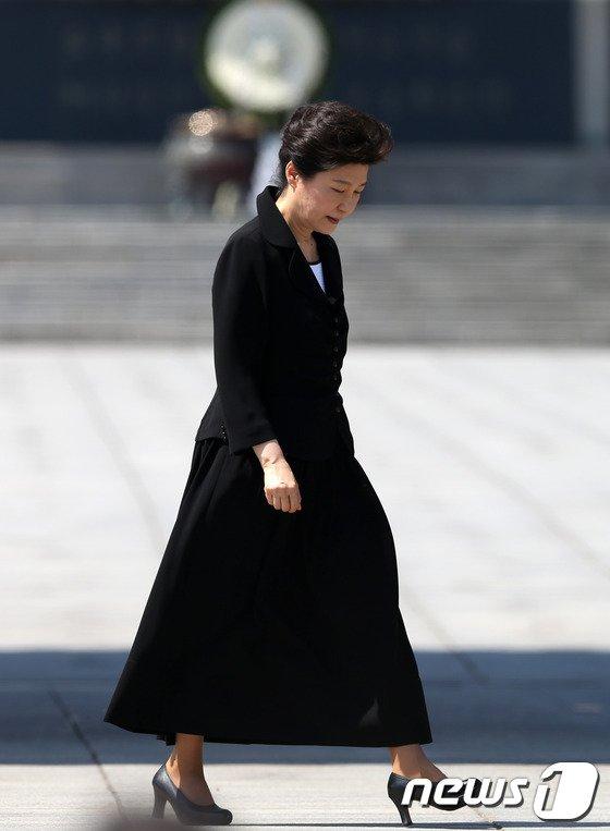 [사진]현충일 추념식 참석한 박근혜 대통령