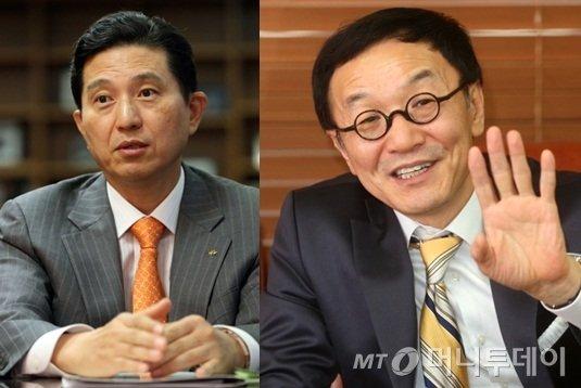 사진 왼쪽부터 임영록 KB금융 회장, 이건호 KB국민은행장/사진=머니투데이 자료사진