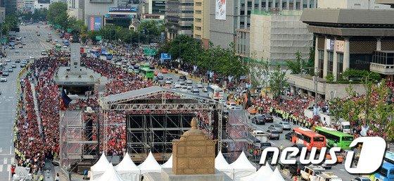 [사진][월드컵] 광화문 광장에 울려퍼진 '대한민국!'