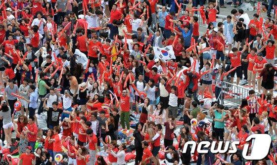 [사진][월드컵] 환호하는 붉은악마!