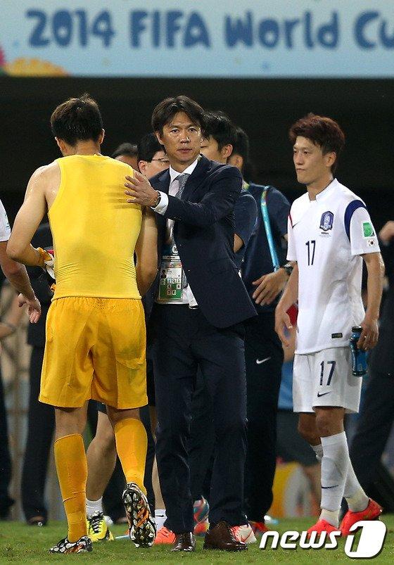 [사진][월드컵] 홍명보 감독 '잘 싸웠다'