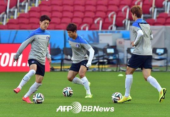 이청용-박주영-기성용. /AFPBBNews=뉴스1<br /> <br />