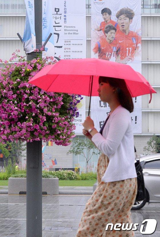 [사진]비오는 광화문 광장