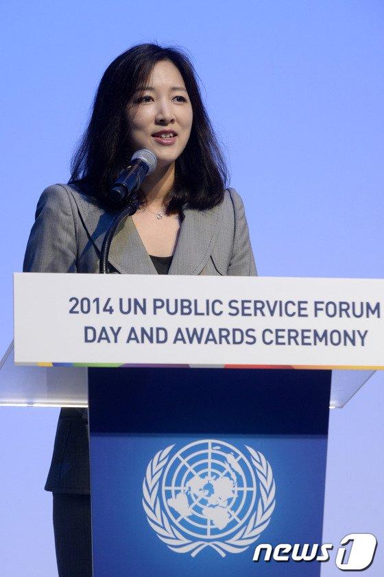 [사진]UN 공공행정포럼 사회 맡은 나승연 전 대변인