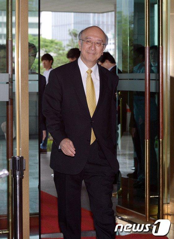 [사진]외교부로 초치된 벳쇼 고로 주한 일본대사