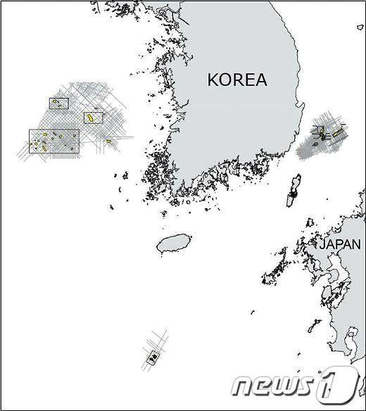 CO2 해양지중저장 저장소 지도/자료=해양수산부© News1