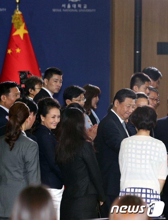[사진]서울대 찾은 시진핑 中주석과 펑리위안 여사