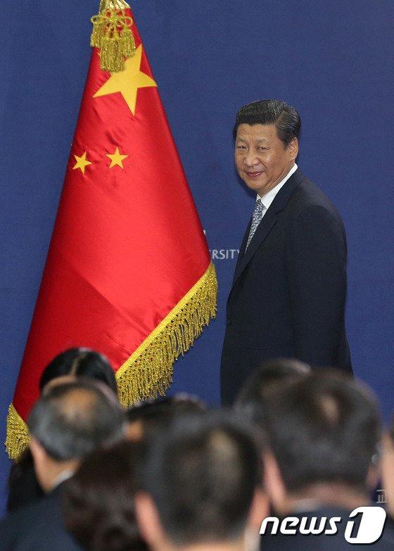 [사진]시진핑 中국가주석의 입장