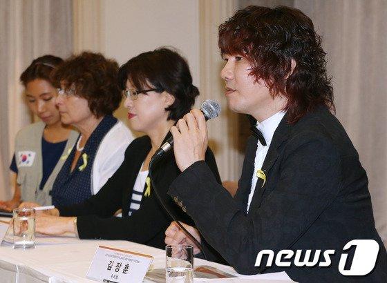 [사진]김장훈 '세월호 피해자 돕고 싶어요'