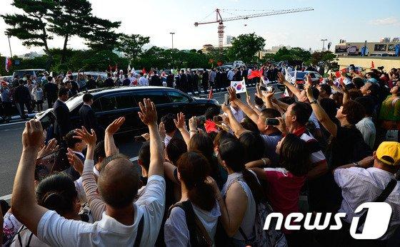 [사진]시진핑 환송 인파