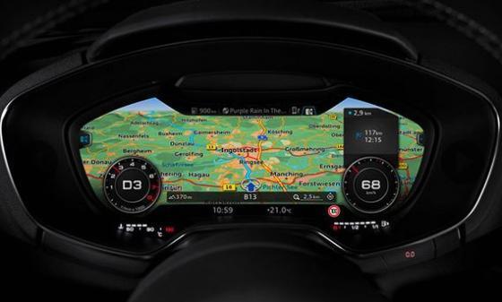 '버추얼 콕핏' 기술이 적용된 차량 디스플레이/사진=유튜브 영상 캡쳐