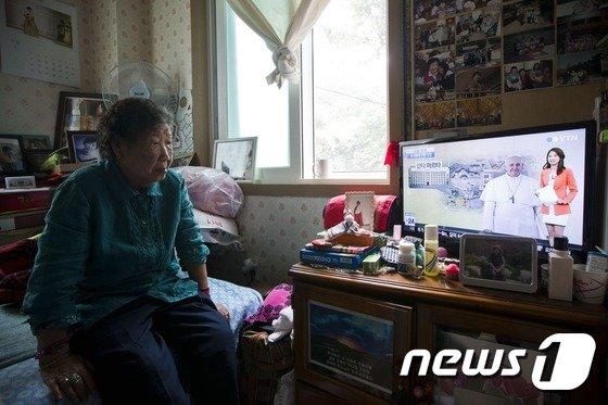 [사진]'할머니와 교황, 그리고 광복절'