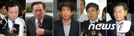 [사진]비리 혐의 여야 의원 5명, 영장실질심사 출석