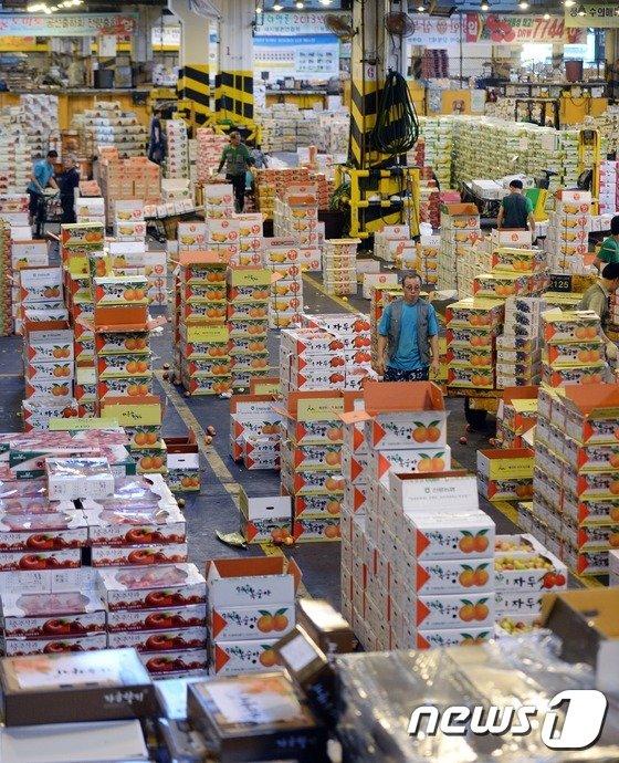 [사진]추석 맞은 가락시장 '바쁘다 바빠'
