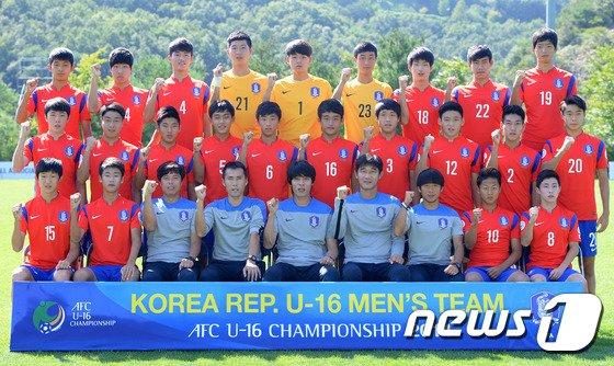 [사진]대한민국 U-16 대표팀 '우승하고 돌아올게요'