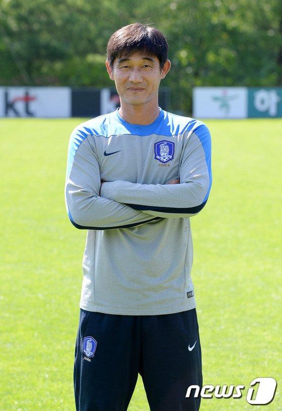 [사진]대한민국 U-16 축구대표팀 차상광 GK 코치