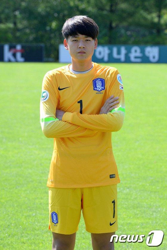 [사진]대한민국 U-16 축구대표팀 안준수 골키퍼