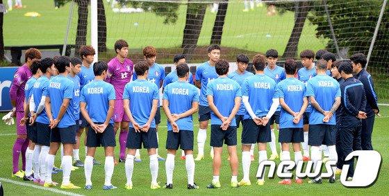 [사진]A대표팀 '첫 훈련, 첫 대면'