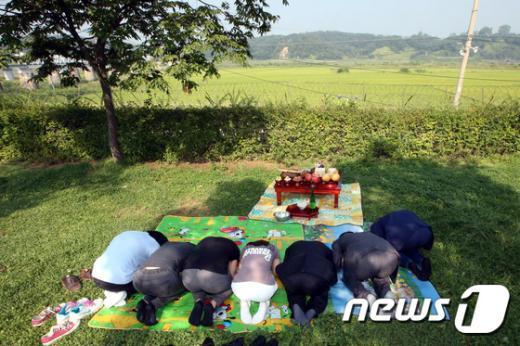 [사진]실향민가족 임진각 차례