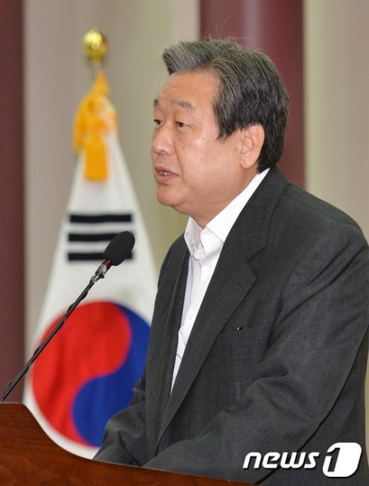 [사진]인사말하는 김무성 새누리당 대표