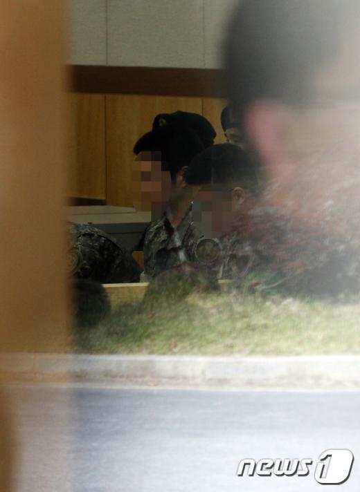 [사진]군사재판 받은 윤일병 가해자들
