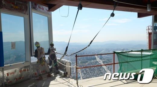 [사진]공사 한창인 제2롯데월드 초고층 타워동