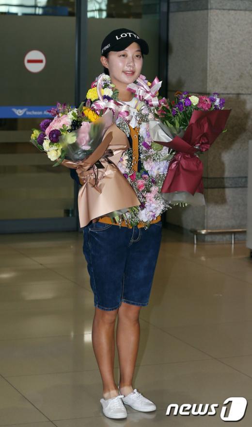 [사진]김효주 'LPGA 에비앙 챔피언십 우승했어요'
