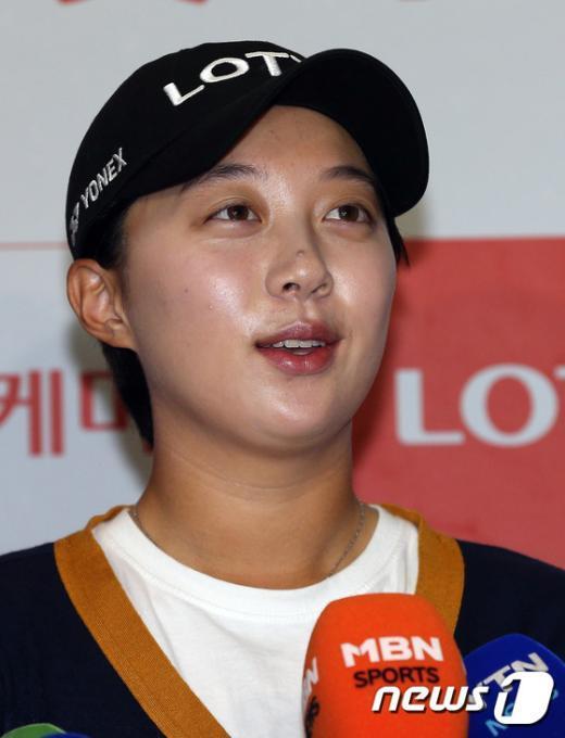 [사진]김효주 귀국 인터뷰