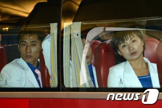 [사진]인천 입성하는 北선수단 4진
