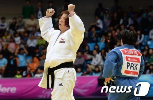 [사진]정경미 '한국 유도 네번째 금메달'