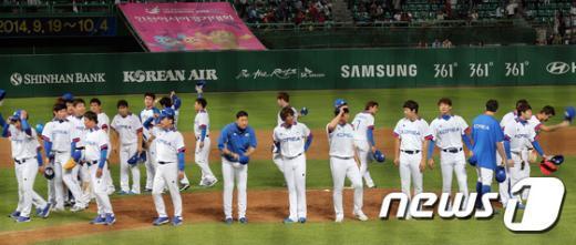[사진]한국 야구 '금메달에 한발 더'