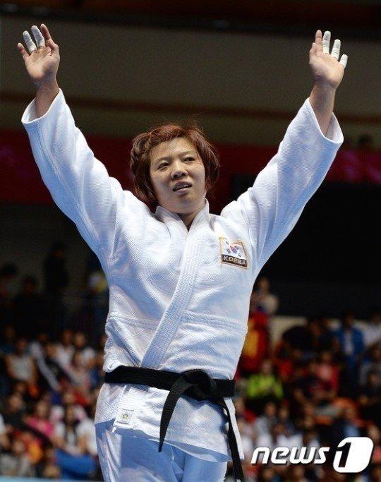 한국 유도 대표 정경미. /사진=News1<br /> <br />