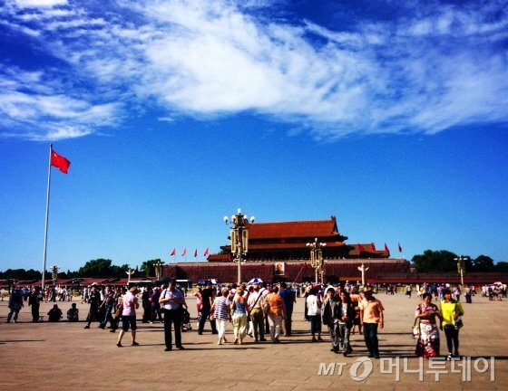 베이징 천안문광장. 패키지여행에서도 빠지지 않는 대표 관광지다/사진=이지혜 기자