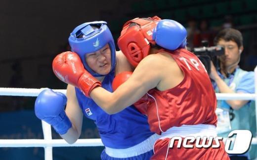 [사진]복싱 여자 60KG급 최수연 '8강 진출 실패'