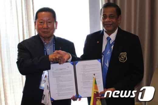 [사진]한-스리랑카 체육교류 양해각서(MOU) 체결식