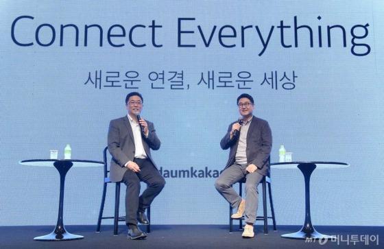 최세훈(왼쪽), 이석우 다음카카오 공동대표