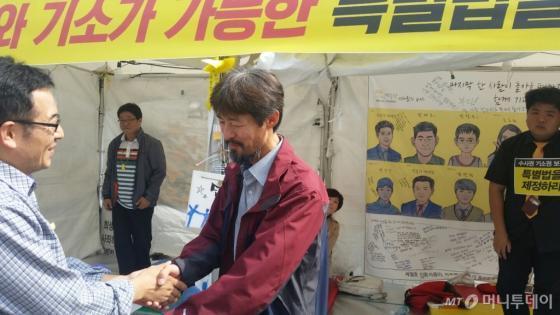 세월호 단원고 희생자 고 김유민 양의 아버지 김영오씨(47)/ 사진=김유진 기자