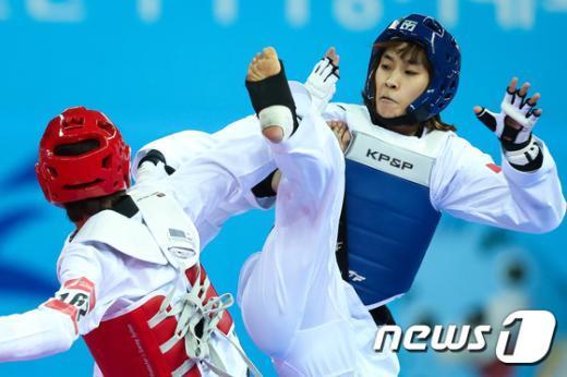 [사진]김소희, 태권도 -46kg급 금메달 획득