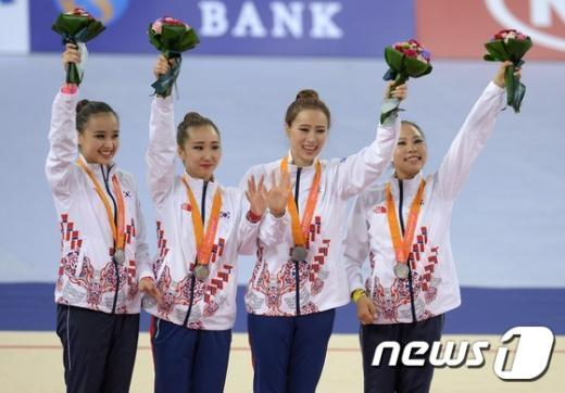 [사진]꽃보다 아름다운 한국 여자 리듬체조대표팀