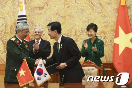 [사진]한-베트남 MOU 서명식