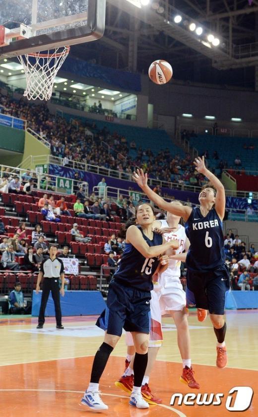 [사진]AG 女농구 '금메달 향해'