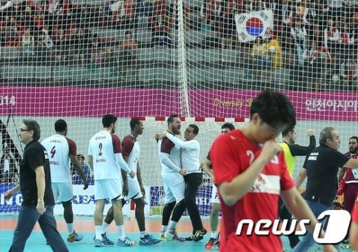 [사진]남자 핸드볼 '아쉬운 은메달'