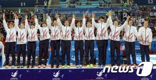 [사진]'감사합니다' 아시아 정상에 오른 女농구