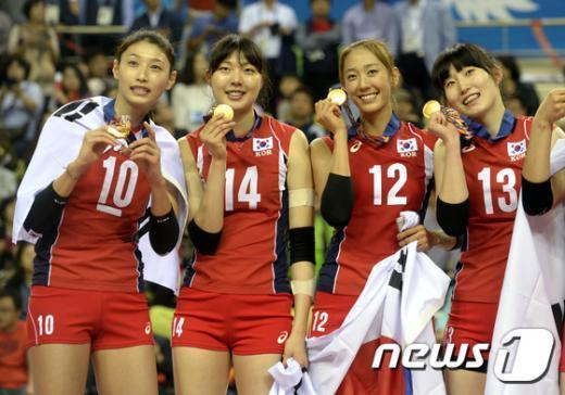 [사진]'우리 금메달 땄어요'