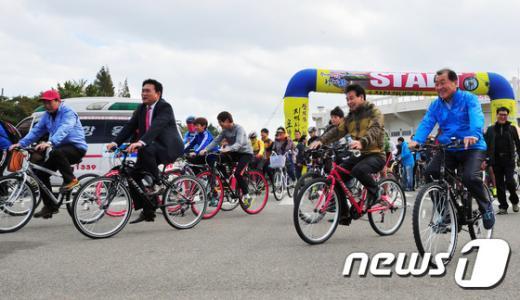 [사진]녹색도시 건설엔 자전거가 최고