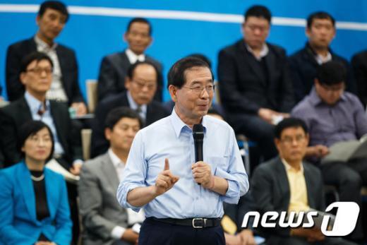 [사진]당원 대토론회 기조연설하는 박원순