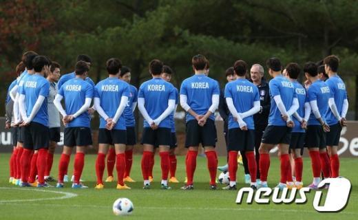 [사진]'슈틸리케호' 축구대표팀 공식훈련