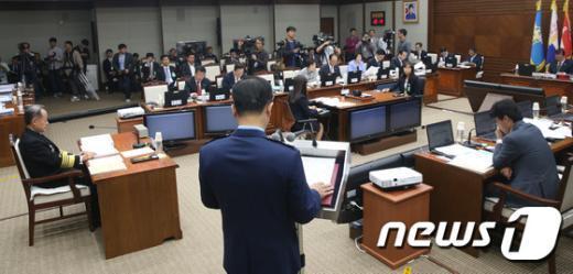 [사진]국회 국방위 합동참모본부 국정감사