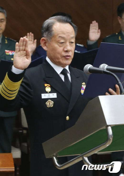 [사진]선서하는 최윤희 합참의장