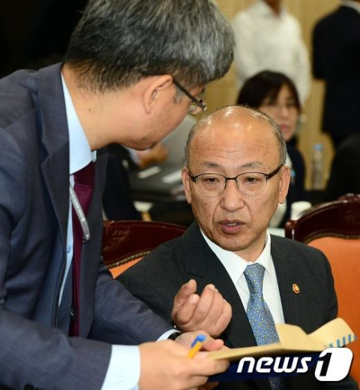 [사진]국정감사 준비하는 문형표 장관